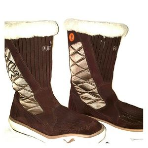 PUMA Women's Brown Suede Boot